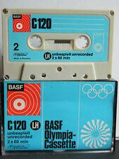 Basf LH C 120 olimpia-cassette 1971-1973 como nuevo sin usar unbeschrifte