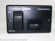 Onan  RV Generator Remote Start & Stop Switch Panel  With Hour Meter 300-5332