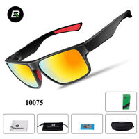 ROCKBROS SP83 Cycling Polarized Full Frame Sports Sunglasses Glasses Black Red