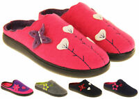 Womens COOLERS PREMIER Felt Outdoor Sole Mules Slippers Size 4 5 6 7 8