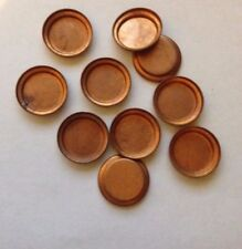 10 x Vintage Round Copper Cameo/Cabochon/Stone Settings - 14mm inner diameter