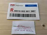 Malaysia, Postage Labes, POS, Registered, TRACK-ON 2, VIA AIR MAIL