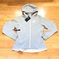 Nike Tech Fleece Windrunner Hoodie Full Zip Heather Grey Women Size Medium