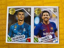 501 - PANINI FIFA 365 - 2018  MESSI  RONALDO