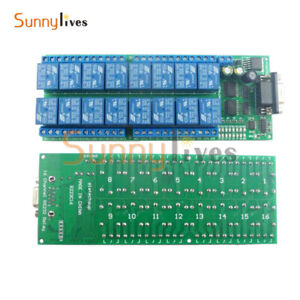 16 Channel RS232 Relay DB9 Female Interface Serial Port Remote Control Switch