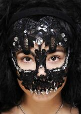 Mujer mexicana Azúcar Calavera Máscara de Encaje Negro