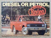 1981 Holden Rodeo original New Zealand sales brochure