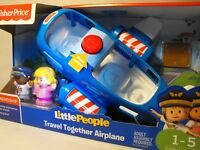 TOY AIRPLANE AGE 1 TO 5 YEARS SOUND AND LIGHT PLANE FISHER PRICE PRE SCHOOL TOY