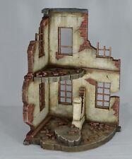 1/35 -1/30. prebuilt and painted diorama ruined Europe building corner