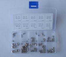 A2 Stainless Steel Allen Head Socket Hex Set Grub Screw Kit M3 M4 M5 120406 New