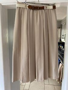 Vintage Gardeur Beige Wool Blend Skirt Size 16