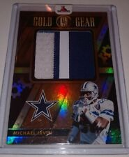 2018 GOLD STANDARD MICHAEL IRVIN GOLD GEAR 2 COLOR JERSEY PATCH DALLAS /49 HOF!!