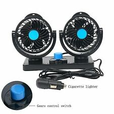 Dual Head Portable Air Conditioner 12v DC Plug in Vehicle Fan Dash Mount for Car