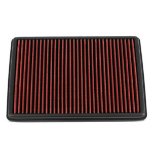 For 2019-2020 Acura RDX 2.0 Reusable/Durable Drop-In Dry Panel Air Filter Red