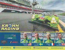 2015 Krohn Racing Judd Ligier JS P2 signed IMSA WTSC Rolex 24 postcard 4 Drivers