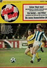 Fußball Woche 31/1971,Bundesliga,WILLI NEUBERGER POSTER,Stan Libuda,Borussia Dor