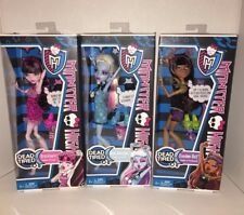New Lot of 3 Monster High Dolls Clawdeen Wolf Draculaura Abby Bominable