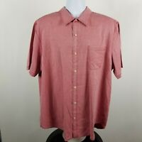 Nat Nast American Fit Mens Pale Red Casual Hawaiian Aloha Button Shirt Sz XL