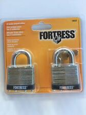 "1803T Master Lock Fortress 2 Pack 11/2""  Laminated Keyed Alike Padlock New In Pk"