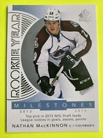 2017-18 Upper Deck SP Authentic Rookie Year Milestones #RYM-NM Nathan MacKinnon