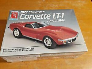 1991 AMT/ERTL Model 1972 CHEVROLET CORVETTE LT-1 CONVERTIBLE Kit #6080