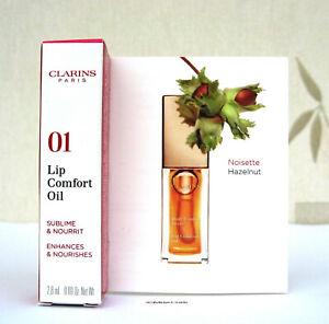 Clarins Lip Comfort Oil  01 Honey  2.8ml Mini BNIB