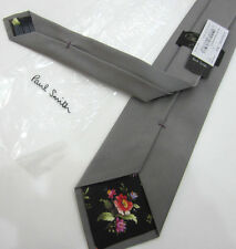 Paul Smith Gris CORBATA THE BRITISH Colección Clásico 9cm HOJA