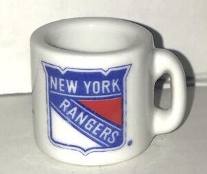 NHL Team Mini Mug Ceramic 2000 New York Rangers Miniature Super Small Coffee