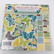 Melody Ross Designer Collections 44 Sheets 8x8 Scrapbook Craft Butterflys