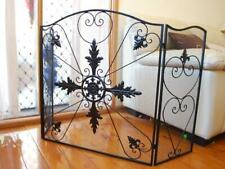 QUALITY Hand Iron French Style Fireplace Screen Fire Guard Shield Optional Legs