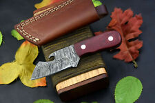 Damascus Steel Skinning Hunting Knife Handmade,G-10 Micarta Handle (D287-A)