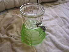 Vintage Art Deco Counter Top Syrup Dispenser Green Glass