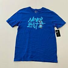 Nike Never Last Short Sleeve T-Shirt Mens Size L Blue NWT New