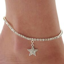 Female Anklets Barefoot Crochet Sandals Foot Jewelry Star Bracelets Leg Chain