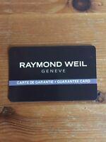 Raymond Weil International Watch Guarantee 2 Years (men's/women's)