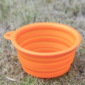 Foldable Portable Dog Bowl Silicone Collapsible Pets Cat Bowl Feeding Water Food