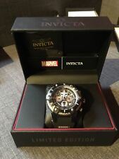 NEW Invicta Marvel Punisher Bolt Viper 52mm Chronograph Black Limited Ed Watch