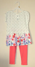 OshKosh TOP & LEGGINGS ~ Size 3T ~ 100% Cotton ~ Cream...