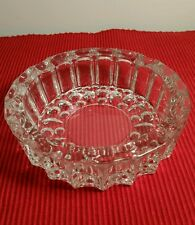 """GORGEOUS LEAD CRYSTAL HEAVY THICK GLASS ASHTRAY 5"""" across X 1.5"""" deep EXC. COND"""