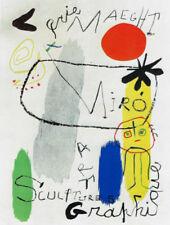 JOAN MIRO POSTER ART (PRINT) EXHIBIT SCULPTURE GRAPHICS MAEGHT GALLERY PARIS