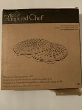 The Pampered Chef Microwave Chip Maker 1241 (set of 2) Black Silicone.