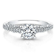 0.74 Ct Brilliant Cut Diamond Engagement Rings 18K Solid White Gold Size 6 7 8 9