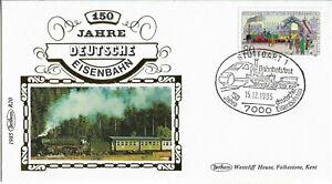 Germany 1985 Benham Silk Railway Cover