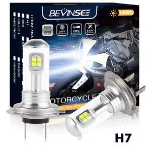 Bevinsee H7 LED Headlight Bulbs Fits Kawasaki Ninja ZX-10R 2011-2014 Hi Low Beam
