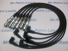 BLACK 8MM PERFORMANCE IGNITION LEADS VR6 MK3 VR6 OBD2 PASSAT 2.8 QUALITY LEADS