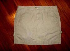 GAP womens sz 4 Tan CARGO Cotton Mini Skirt
