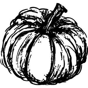'Pumpkin' Unmounted Rubber Stamp (RS015183)