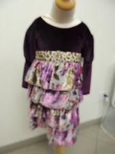 Haute Baby Size 4T Leopard Floral Vintage Style Girls Designer Dress NWT