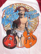True Vintage TED NUGENT Concert T-Shirt Tour Shirt 1980 Size Sm Metal 80s Rock