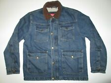 Wrangler Sherpa Lined Trucker Denim Jacket Men's S